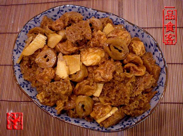 烤麩為主的菜可以做出很多,象紅燒烤麩、四喜烤麩 ...